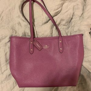 Purple Coach Tote💜